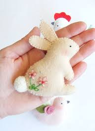 easter ornaments pdf pattern easter ornaments bunny hen and dove felt