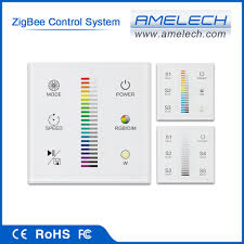 dimmer switch for track lighting touch panel zigbee wireless lighting control system led light dimmer