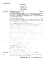 Resume Sample Attorney by Application Resume Format