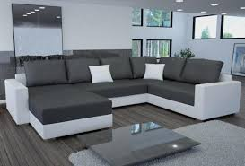 canape cuir blanc et gris canap meridien june tissu sawana anthracite with canap meridien