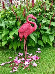 pink flamingo metal indoor outdoor pond garden ornament sculpture