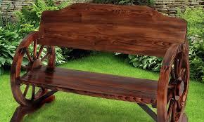 panchina in legno da esterno panca da giardino in legno di pino groupon