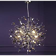 Light Fixtures Chandeliers Gdns 8 Pcs Lights Chandeliers Firework Led Light Stainless Steel
