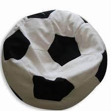 soccer ball shaped beanbag chair football beanbag cushion filled
