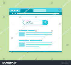 Search Design by Flat Design Online Job Search Results Stock Vector 320683196
