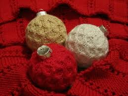 handmade knitted christmas ornaments and handmade red knitted