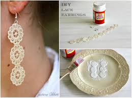 earrings diy how to make diy lace earrings mod podge rocks