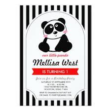 panda bear invitations u0026 announcements zazzle