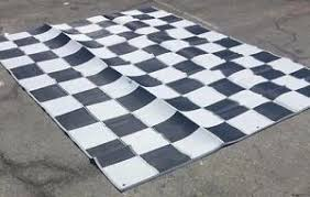 Ebay Outdoor Rugs Rv Patio Awning Mat Reversible Outdoor Rug 9x12 Black Silver