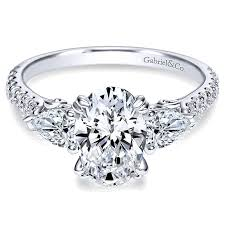 engagement rings stones images 14k white gold diamond 3 stones 14k white gold engagement ring jpg