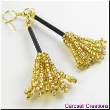 witch u0027s broom halloween seed beaded holiday earrings tags