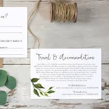 Wedding Invitation Information Card Minimalist Leaves Wedding Invitation By Emmy Designs