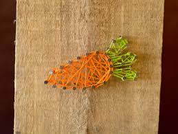 art and craft for home decoration easter string art home decor craft bunny carrot and egg