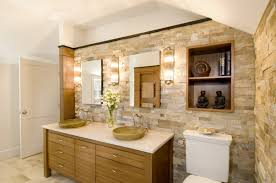 Bamboo Bathroom Cabinet Bathroom Decorating Design Ideas Using Light Brown Stone Bathroom