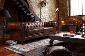 canapé cuir chesterfield canapé chesterfield en cuir kensington intérieurs industriels