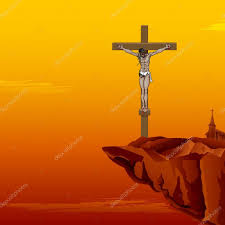 jesus christ on cross u2014 stock vector vectomart 9320114