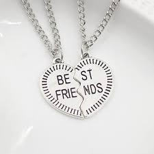 best friends heart necklace images 2 parts best friends pendant necklace best friend forever bff jpg