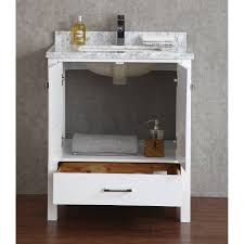 buy vincent 30 inch solid wood double bathroom vanity in white hm