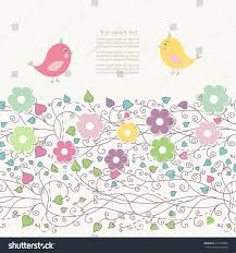 abstract hand drawn doodle vintage floral stock vector 415725202