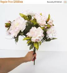Artificial Peonies On Sale Luxury 12 Silk Peonies Bouquet Flowers Soft Pink Peony