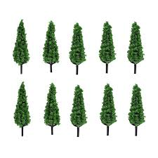artificial plastic mini trees for crafts size 2 5 10 pcs