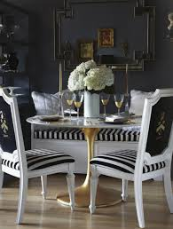 Black And White Striped Chair by East Meets South Seeing Stripes
