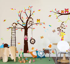 Nursery Stickers Amazon Com Haya Tm Lovely Blooms Zoo Nursery Children U0027s Room