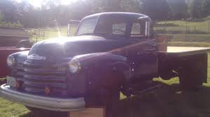 Classic Chevy Trucks Lifted - 1950 antique old 4400 chevy chevrolet dump flat bed truck youtube