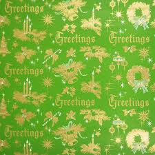 vintage wrapping paper christmas greetings 1970s vintage wrapping paper roll
