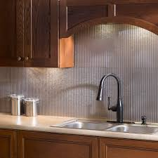 Fasade  In X  In Rib PVC Decorative Backsplash Panel In - Backsplash panel