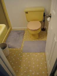 beautiful yellow bathroom tile on home interior designing with