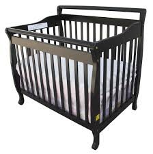 Black Convertible Cribs On Me 3 In 1 Portable Convertible Crib