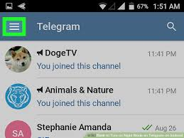 telegram for android how to turn on mode on telegram on android 5 steps