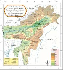 India River Map by Majuli Cultural Landscape Region
