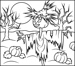 100 ideas halloween coloring pages scarecrow emergingartspdx