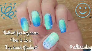 nail art for beginners how to do a fan brush gradient youtube