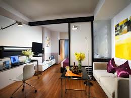 studio apartment design ideas 400 square feet glass doors