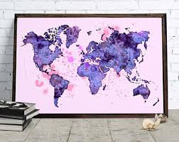 World map decor
