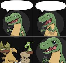 Meme Generator Velociraptor - stand up t rex fail blank template imgflip