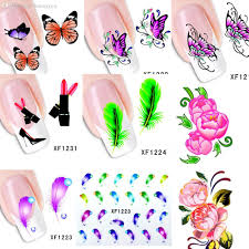 wholesale 60sheets xf1181 xf1240 new water transfer nail art