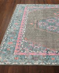 abigail grey and magenta and slate kids rug