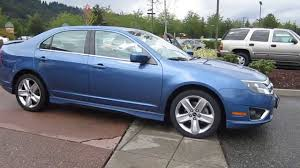 sport blue metallic 2010 ford fusion sport fwd 2010 ford fusion