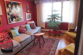 Rugs For Laminate Wood Floors Burgundy Living Room Decor With Burgundy Walls Also Fabric Accent