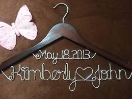 personalized wedding hangers personalized wedding hangers bridal hangers custome made wedding