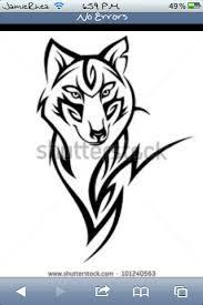 tribal wolf tattoos tribal wolf and blackwork