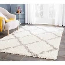 Brown Shag Area Rug by Shag Area Rugs In The Living