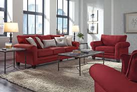Red Sofa In Living Room by Aspire Sofa Red Levin Furniture