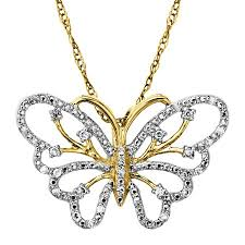 necklace with butterfly pendant images 1 10 ct diamond butterfly pendant in 14k gold 1 10 ct diamond jpg