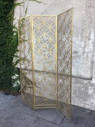 Gold Room Divider by Sunbeam Vintage Decorative Items