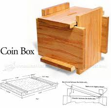 Small Woodworking Projects For Gifts by Coin Box Plans Woodworking Plans And Projects Woodarchivist